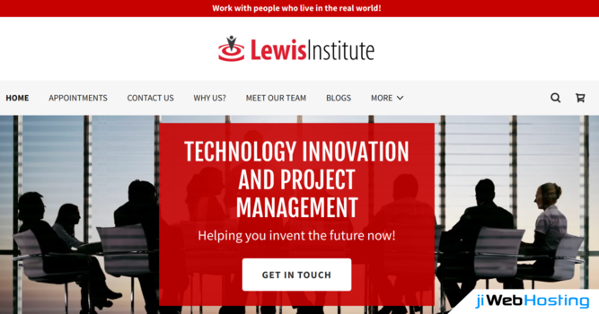How Lewis Institute Attained Heights With Help of jiWebHosting