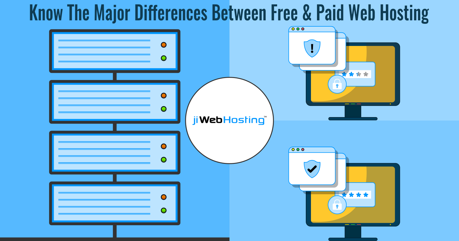 Know The Major Differences Between Free & Paid Web Hosting